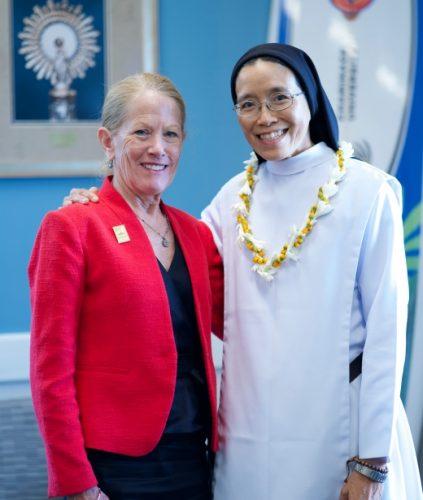 Dr. Babingtong with Sr. Malia Wong