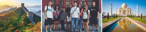 Students visiting Chin and India for the Hogan study mission