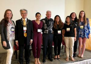 Hogan students at the UH-HK-China forum with Major Kirk Caldwell