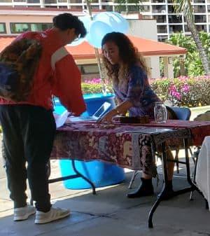 Savannah Delos Santos at the Hogan Marketplace