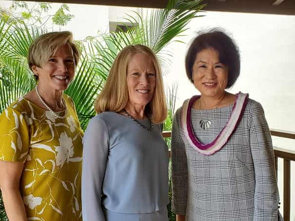 Dawn Ige, MBA '86, Dr. Lynn Babington and Diane Peters-Nguyen