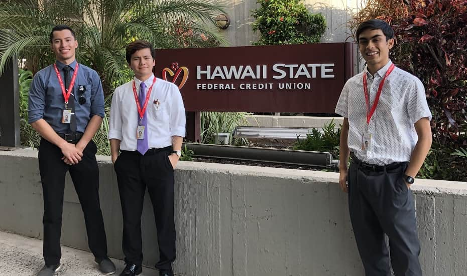 Business students interning at HSFCU