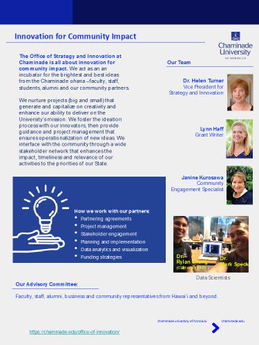 Innovation highlights flyer