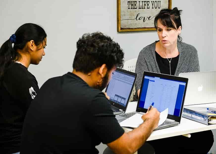 Data science program summer institute, students doing research