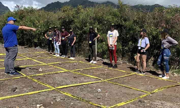 CSI camp in Maui - in the field