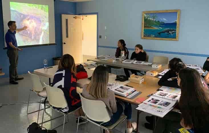 CSI camp in Maui - in the classroom