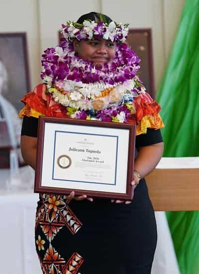 Julie Tupuola Heritage Award winner