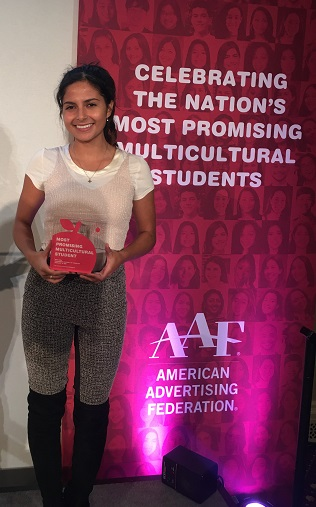 Sofia Vela in NYC for Most Promising Multicultural program