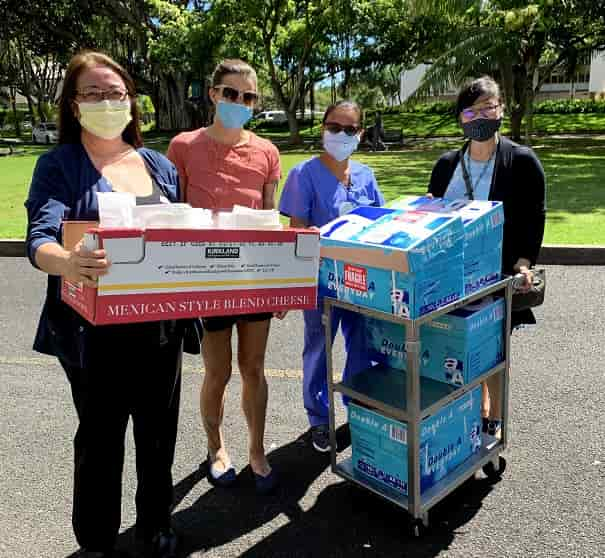 CTRAC created PPE donated to Queen's Medical Center