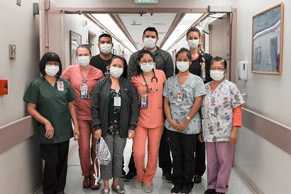 Alyssa Nagai and her co-workers