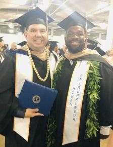 Anthony Shipp, MBA 19 at his Chaminade University graduation