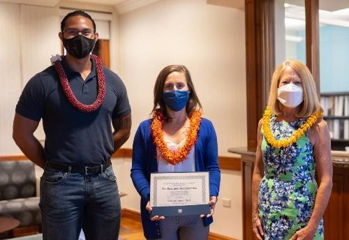 Danson Oliva, Dr. Kate Perrault and Dr. Lynn Babington