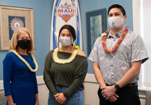 Dr. Lynn Babington, Darian Balai and Dr. Rylan Chon