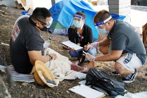 School of Nursing and Health Professions homeless simulation