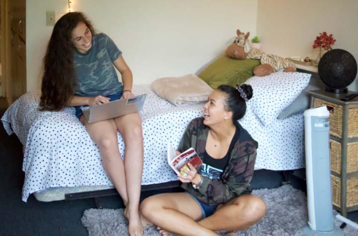 Chaminade students in freshman dorm